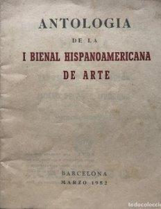 1952 Antología de la I Bienal Hispanoamericana de arte