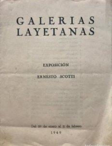 1949 Galerias Layetanas. Exposición Ernesto Scotti