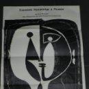Arte: (M) CATALOGO EXPOSICIO HOMENATGE A PICASSO , ALEXANDRE CIRICI , JOAN BROSSA , CARTEL HOSPITAL SANTA. Lote 153360706