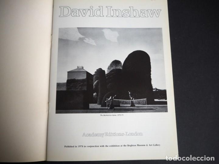 Arte: DAVID INSHAW. CATALOGO. EXPOSICION DEL BRIGHTON MUSEUM & ART GALLERY.1978. - Foto 2 - 153799490