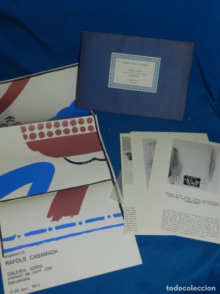 (M) ALBERT RAFOLS CASAMADA - GALERIA ADRIA , BARCELONA 1972 , CARTEL + PAG. (Arte - Catálogos)