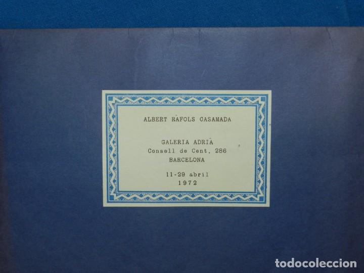 Arte: (M) ALBERT RAFOLS CASAMADA - GALERIA ADRIA , BARCELONA 1972 , CARTEL + PAG. - Foto 4 - 153841814