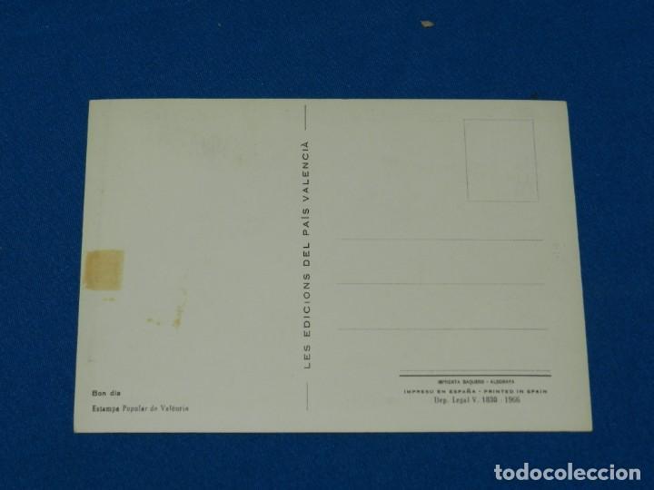 Arte: (M) POSTAL ORIGINAL EQUIPO CRONICA - BON DIA , ESTAMPA POPULAR DE VALENCIA 1966, 16X11'5CM - Foto 2 - 153849118
