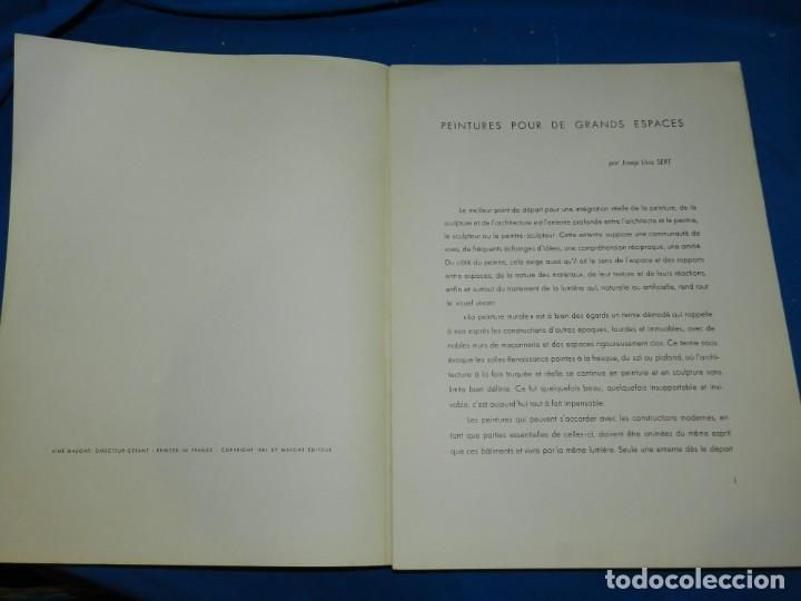 Arte: (M) DERRIERE LE MIROIR - PEINTURES MURALES JOAN MIRO 1961 MAEGHT EDITEUR NUM 128 - Foto 2 - 154821498