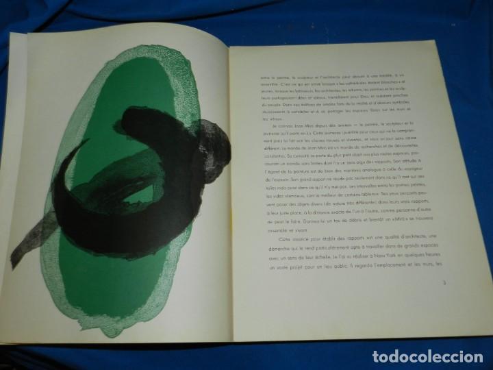 Arte: (M) DERRIERE LE MIROIR - PEINTURES MURALES JOAN MIRO 1961 MAEGHT EDITEUR NUM 128 - Foto 3 - 154821498
