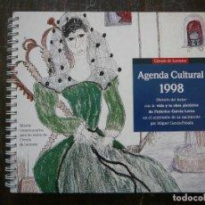 Arte: AGENDA CULTURAL 1998. CON LA VIDA Y OBRA PICTÓRICA DE FEDERICO GARCÍA LORCA. CÍRCULO DE LECTORES.. Lote 155696706