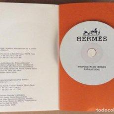 Arte: CUADERNO DE NOTAS LIBRETA CON IMÁGENES Y DISCO PROPUESTAS DE HERMES NAVIDAD 2008/9. Lote 155925950