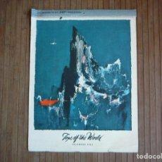 Arte: OTTO NIELSEN. TOPS OF THE WORLD. CALENDARIO 1963 ALMANAQUE SCANDINAVIAN AIRLINES SYSTEM SAS.. Lote 156352698