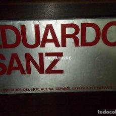 Arte: EDUARDO SANZ.CICLO MAESTROS ARTE ACTUAL.SALA ARTE LA LAGUNA.TENERIFE.CANARIAS. Lote 156490730