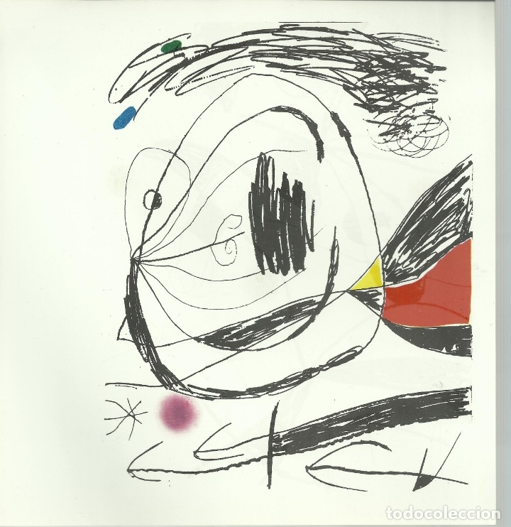 Arte: Miro , Sala pelaires,Mallorca 1973, 9 dibujos. Carpeta sin encuadernar para disponer de los dibujos - Foto 7 - 145982446