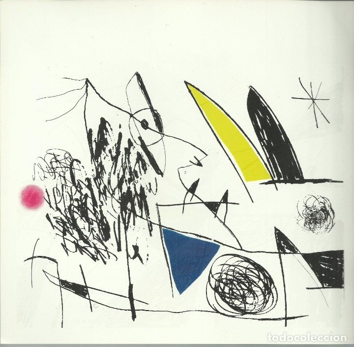 Arte: Miro , Sala pelaires,Mallorca 1973, 9 dibujos. Carpeta sin encuadernar para disponer de los dibujos - Foto 9 - 145982446