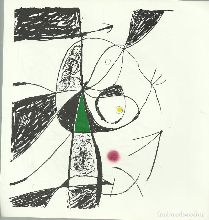 Arte: Miro , Sala pelaires,Mallorca 1973, 9 dibujos. Carpeta sin encuadernar para disponer de los dibujos - Foto 11 - 145982446