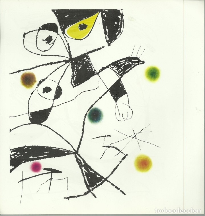 Arte: Miro , Sala pelaires,Mallorca 1973, 9 dibujos. Carpeta sin encuadernar para disponer de los dibujos - Foto 10 - 145982446