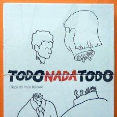 Arte: DIEGO DEL POZO: TODO NADA TODO - CATÁLOGO DE EXPOSICIÓN - MUSEO DA2 - 2006 -NUEVO. Lote 156736606