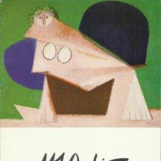 Arte: MANUEL ÁNGELES ORTIZ,,GALERÍA IGNACIO DE LASSALETTA, 1979 ( DIPTICO ). Lote 159784858