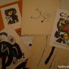 Arte: JOAN MIRÓ. LOTE DE 5 INVITACIONES. Lote 159938878