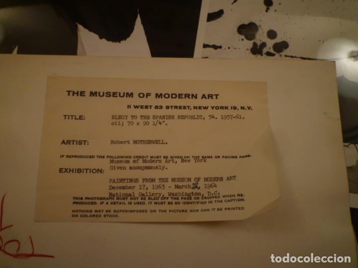 Arte: ROBERT MOTHERWELL. RETROSPECTIVA. MUSEO ARTE MODERNO. MEXICO. C.1975. + 7 FOTOGRAFÍAS. - Foto 12 - 160184414