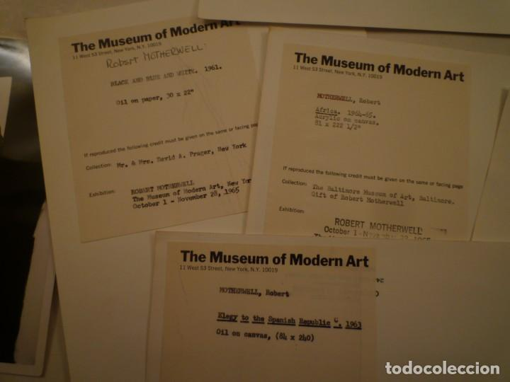 Arte: ROBERT MOTHERWELL. RETROSPECTIVA. MUSEO ARTE MODERNO. MEXICO. C.1975. + 7 FOTOGRAFÍAS. - Foto 14 - 160184414