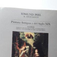 Arte: EDMUNDO PEEL & ASOCIADOS. PINTURA ANTIGUA Y DEL SIGLO XIX (31 OCTUBRE 1989). Lote 160385466