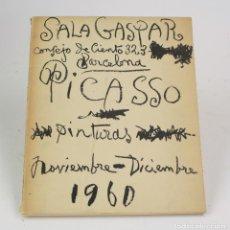 Arte: CATÁLOGO PICASSO, PINTURAS, 30 CUADROS INÉDITOS, 1917 - 1960, SALA GASPAR, 1960, BARCELONA.. Lote 161218954