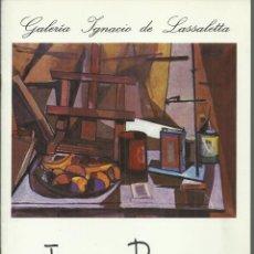 Arte: JOAQUÍN PEINADO, GALERÍA IGNACIO DE LASSALETTA 1977. Lote 163616702