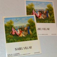 Arte: ISABEL VILLAR - SALA LUZÁN - CON DÍPTICO. Lote 163620222