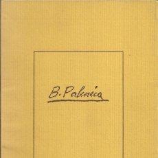 Arte: BENJAMÍN PALENCIA, SALA CELINI 1975. Lote 163620558