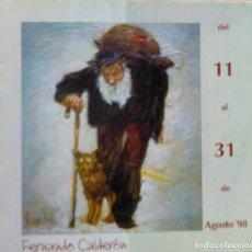 Arte: CATALOGO EXPOSICION FERNANDO CALDERON AGOSTO 98 SANTOÑA. Lote 165837622