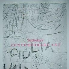 Arte: SOTHEBY'S - CONTEMPORARY ART - CATÁLOGO DE SUBASTA - ARTE CONTEMPORÁNEO - PINTURA CONTEMPORÁNEA. Lote 166312026