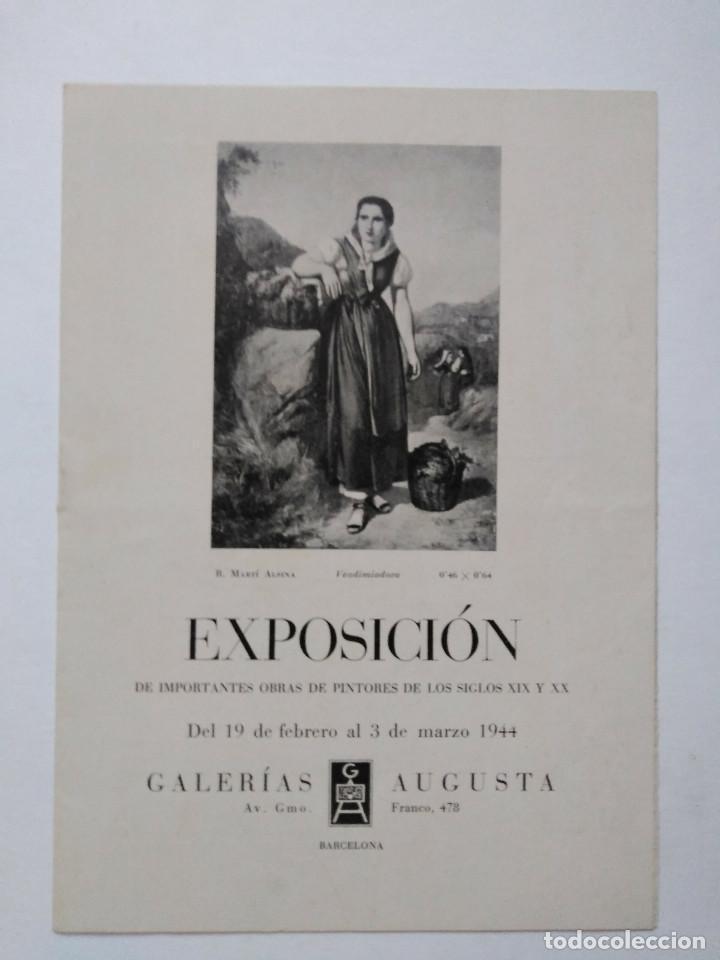 GALERÍAS AUGUSTA, BARCELONA 1944 (Arte - Catálogos)