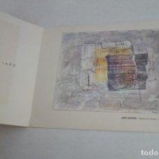 Arte: FELICITACIÓN DE NAVIDAD 1963, JEAN FAUTRIER, GALERIA RENE METRAS, BARCELONA. 22X17CM. Lote 166700594