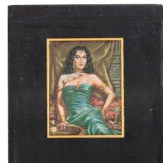 Arte: ALBERTO DE LARRUMBIDE. MINIATURAS. NOVIEMBRE 1953. GALERÍAS AUGUSTA.BARCELONA. DÍPTICO. 20X14 CM.. Lote 167930396