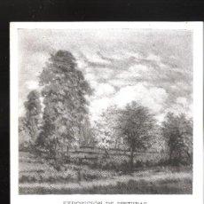 Arte: MAGIN OLIVER. FEBRERO 1952. GALERÍAS ARGOS. BARCELONA. DÍPTICO. 17 X 13 CM.. Lote 167933044