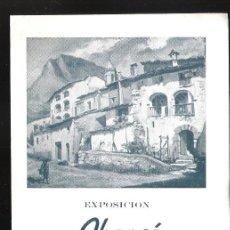 Arte: JUAN ABANCÓ. FEBRERO 1954. CASA DEL LIBRO. BARCELONA. DÍPTICO. 17 X 12 CM.. Lote 167935732