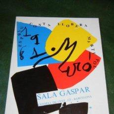 Arte: JOAN MIRO SALA GASPART 1981 - LLIBRE DELS SIS SENTITS. Lote 168347160