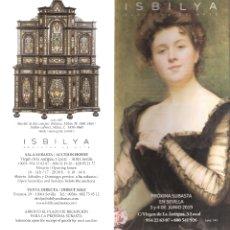 Arte: ISBILYA. SUBASTAS DE ARTE. SUBASTA . JUNIO 2019. DESPLEGABLE ( 10 CARAS). 21 X 10 CMTRS. SEVILLA. . Lote 168606936