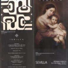 Arte: ISBILYA. SUBASTAS DE ARTE. SUBASTA . MAYO 2019. DESPLEGABLE ( 10 CARAS). 21 X 10 CMTRS. SEVILLA. . Lote 168607140