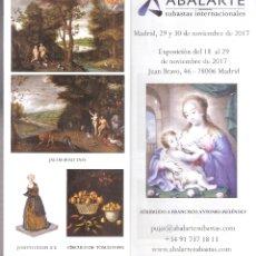 Arte: ISBILYA. SUBASTAS DE ARTE. SUBASTA .NOVIEMBRE 2017.DESPLEGABLE ( 10 CARAS). 21 X 10 CMTRS. SEVILLA. . Lote 168607744