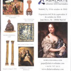 Arte: ISBILYA. SUBASTAS DE ARTE. SUBASTA .OCTUBRE 2018.DESPLEGABLE ( 10 CARAS). 21 X 10 CMTRS. SEVILLA. . Lote 168607872