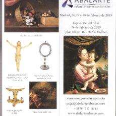 Arte: ISBILYA. SUBASTAS DE ARTE. SUBASTA . FEBRERO 2019.DESPLEGABLE ( 10 CARAS). 21 X 10 CMTRS. SEVILLA. . Lote 168608060