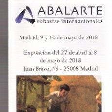 Arte: ISBILYA. SUBASTAS DE ARTE. SUBASTA. MAYO 2018. DESPLEGABLE ( 10 CARAS). 21 X 10 CMTRS. SEVILLA. . Lote 168608196