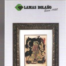 Arte: LAMAS BOLAÑO. SUBASTAS DE ARTE. ABRIL 2018. DESPLEGABLE ( 12 CARAS). 21 X 10 CMTRS. BARCELONA.. Lote 168608620