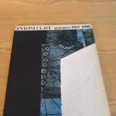 Arte: ANTONI CLAVE GRAVURES 1965-1980. Lote 169207905
