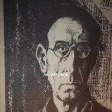 Arte: ALBERTO SANCHEZ. EXPOSICION COLEGIO ARQUITECTOS CANARIAS.1975.ARTE.ESCULTURA.DIBUJOS. Lote 169243620