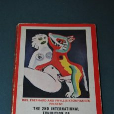 Arte: CATÁLOGO - THE 2ND INTERNATIONAL EXHIBITION OF EROTIC ART - ESTOCOLMO - 1969 - DRS. KRONHAUSEN. Lote 169393112