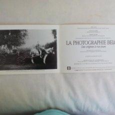 Arte: LA PHOTOGRAPHIE BELGE 1991 TARJETA EXPOSICIÓN FOTOGRÁFIA PARIS CENTRE NATIONAL DE LA PHOTOGRAPHIE. Lote 169399836