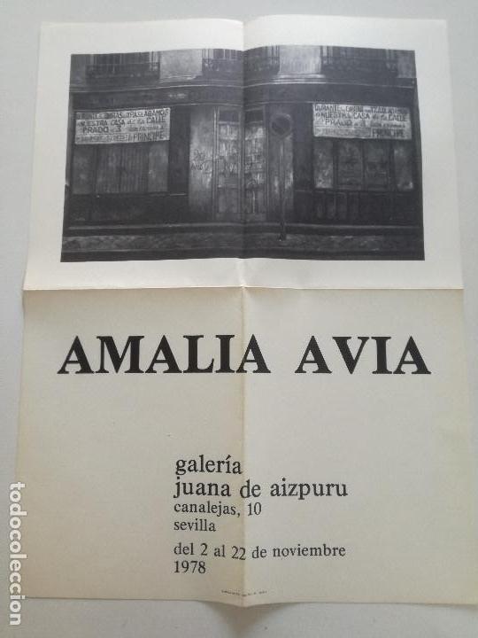 AMALIA AVIA - CARTEL ORIGINAL GALERIA JUANA DE AIZPURU SEVILLA 1978 // 31X41,5CM (Arte - Catálogos)
