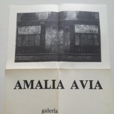 Arte: AMALIA AVIA - CARTEL ORIGINAL GALERIA JUANA DE AIZPURU SEVILLA 1978 // 31X41,5CM. Lote 169657340