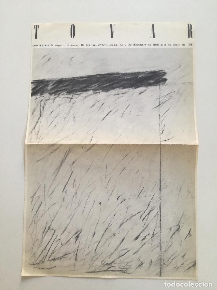 IGNACIO TOVAR - CARTEL ORIGINAL GALERIA DE ARTE JUANA DE AIZPURU SEVILLA 1980-81 // 22,5X34CM (Arte - Catálogos)