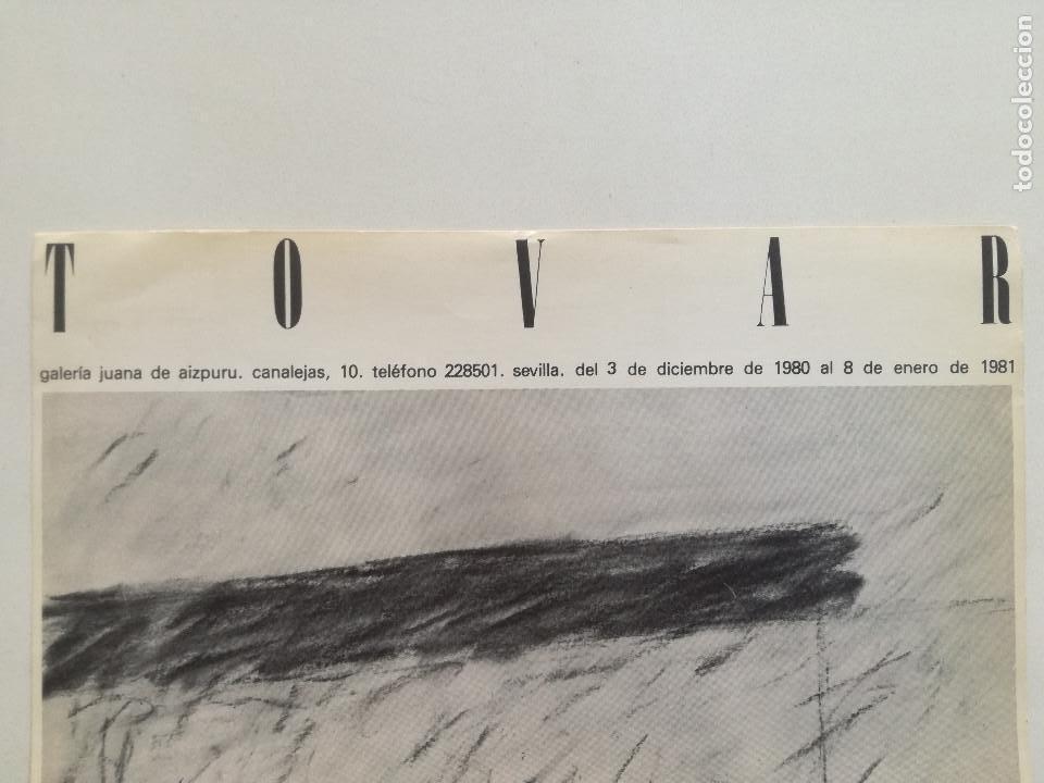 Arte: IGNACIO TOVAR - CARTEL ORIGINAL GALERIA DE ARTE JUANA DE AIZPURU SEVILLA 1980-81 // 22,5X34cm - Foto 2 - 169657916